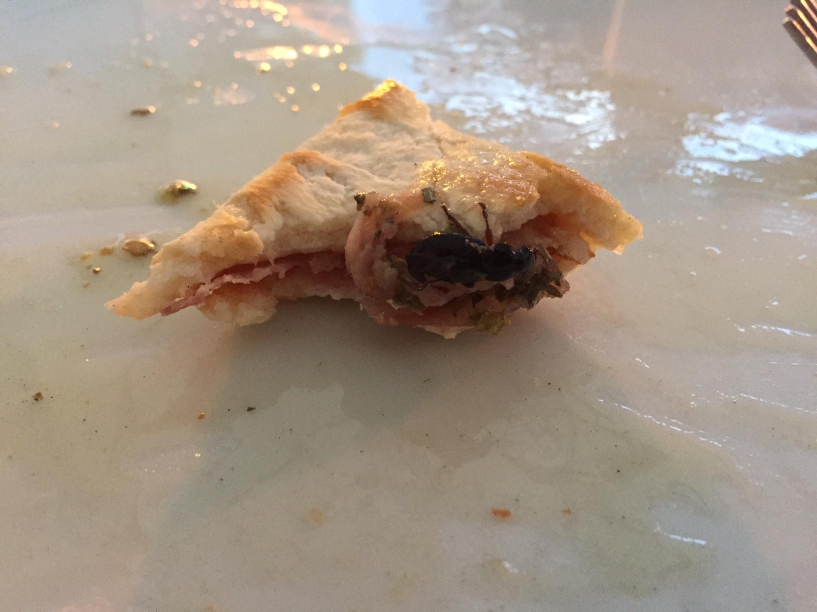 Pizza cu gandaci