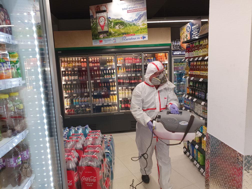 Dezinfectie magazin Carrefour Oradea